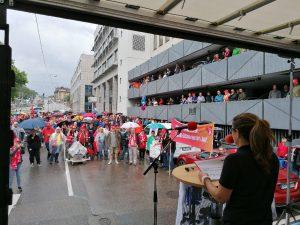 Mahle Kollegn protestierten bereits am 12 Juli!